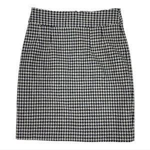 BANANA REPUBLIC Wool Houndstooth Mini Skirt
